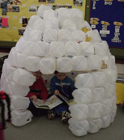 Reading inside an igloo