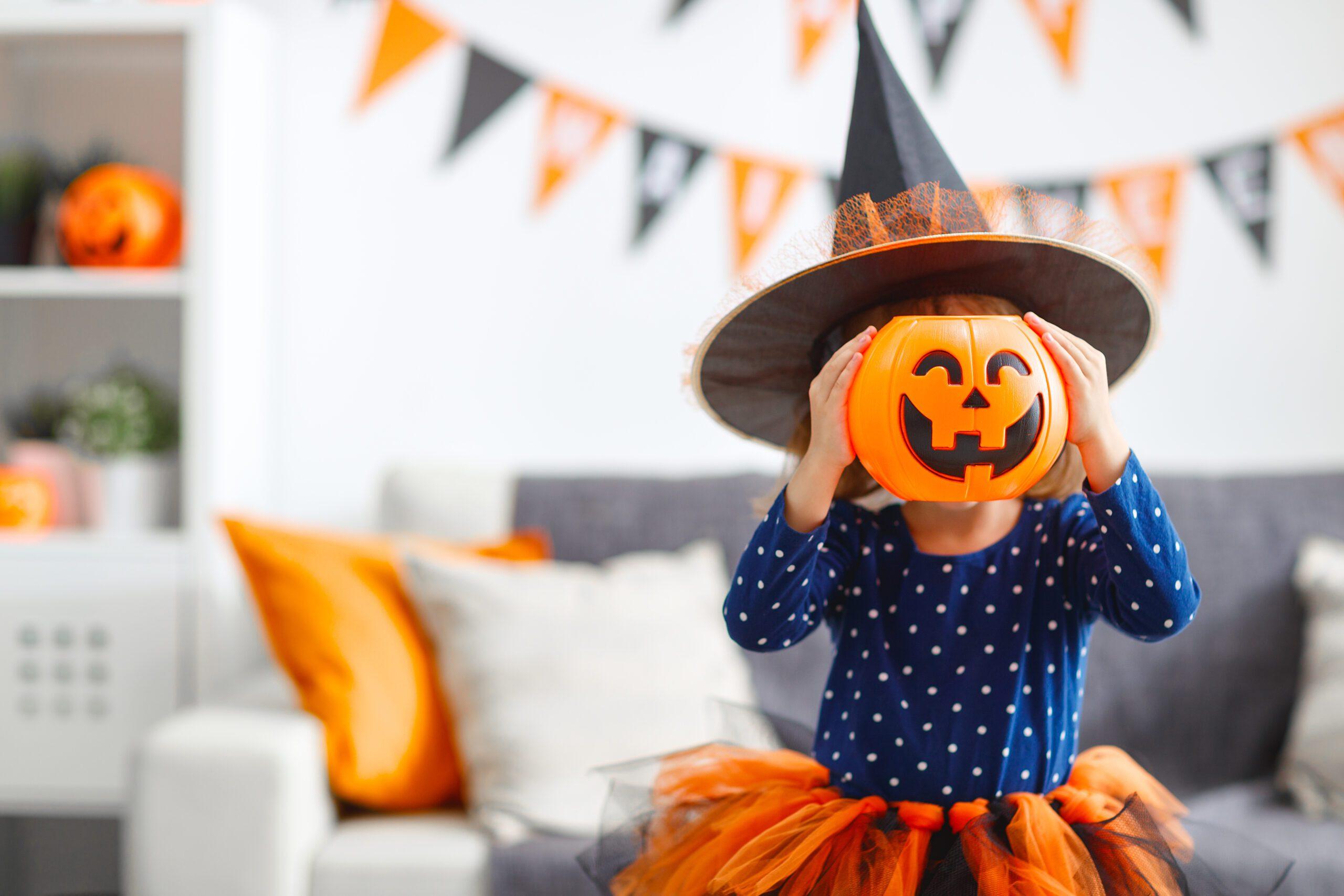 girl celebrating halloween