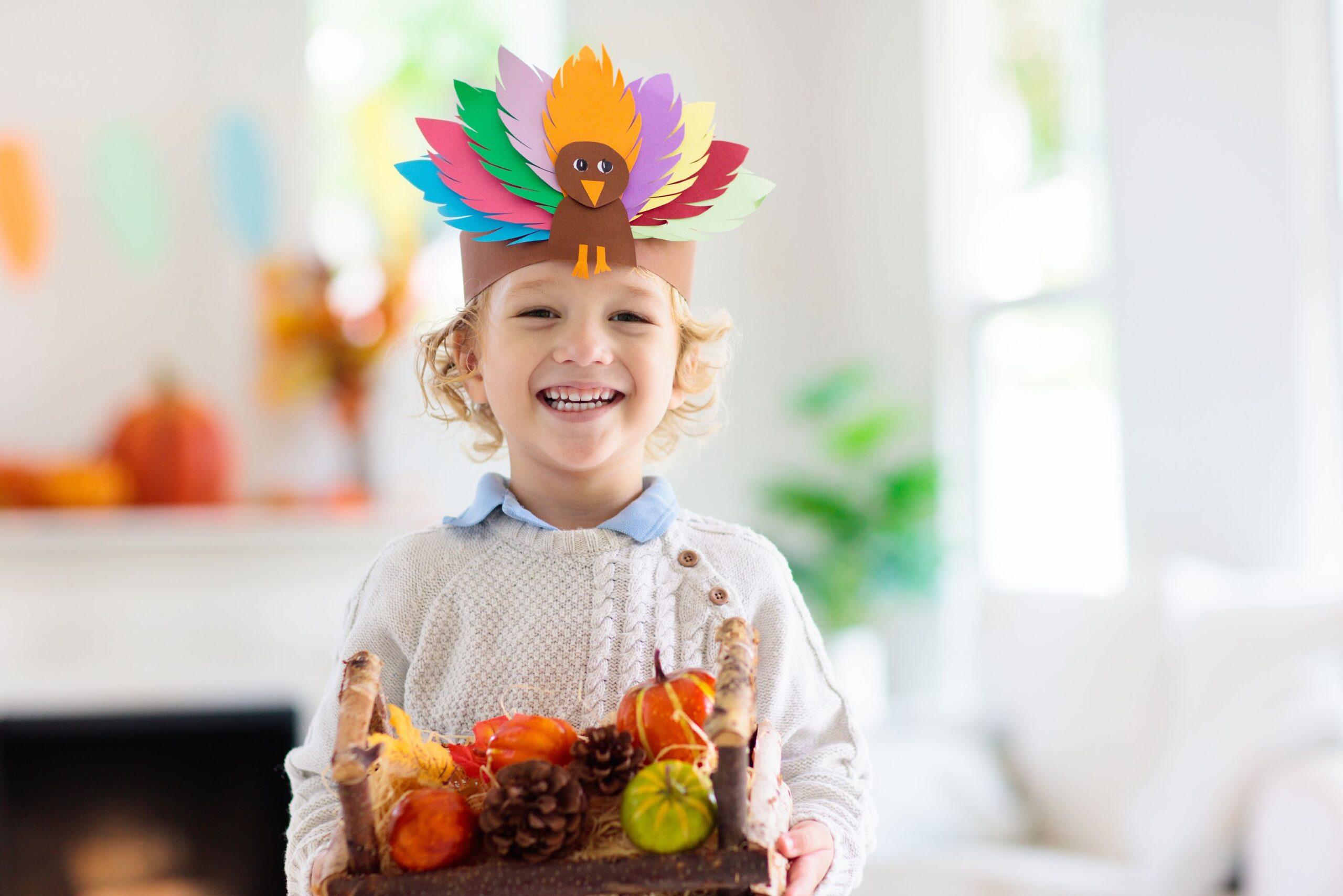 boy celebrating thanksgiving